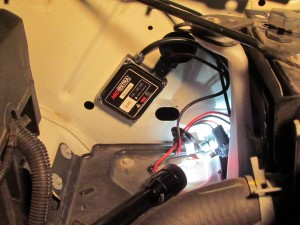 hid ballast mounted in truck
